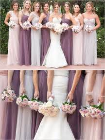 wedding dresses in different colors 25 best ideas about mixed bridesmaid dresses on