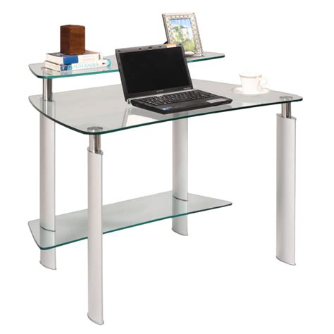 Glass Laptop Desk Modern Desks Glass Computer Desk Eurway