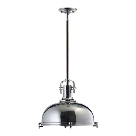 one light chrome pendant quorum international dome pendant
