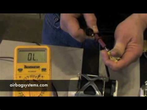seat belt tensioner resistance high airbag systems how to test a seatbelt pre tensioner