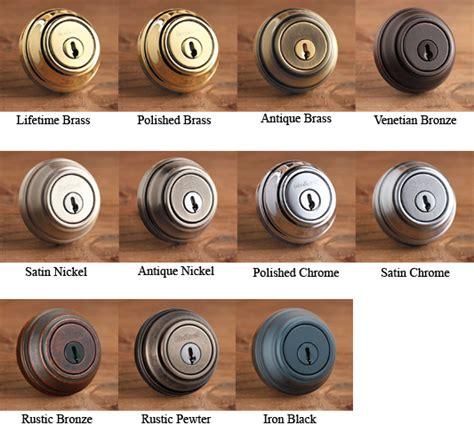 Door Hardware Finishes by Kwikset Hardware Finish Colors Doorware