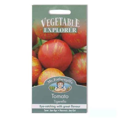 Biji Benih Tanaman Sayuran Tomat jual benih tomat tigerella 30 biji mr fothergills