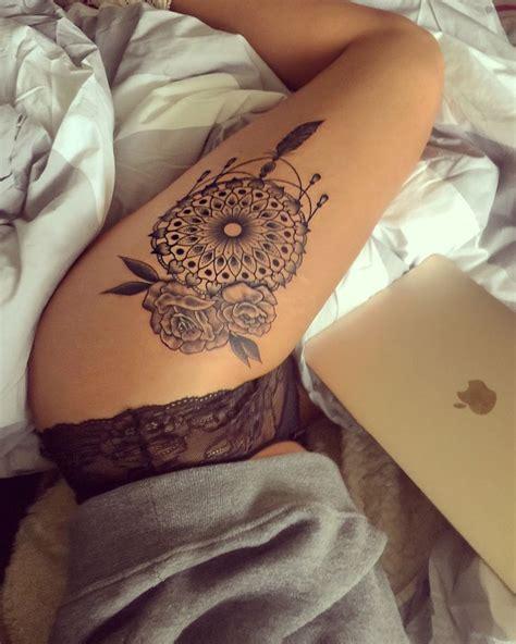 hiptattoo mandala dreamcatcher roses tattoo hiptattoo