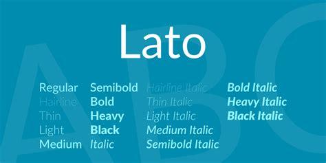 lato font family 183 1001 fonts