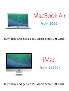 Apple Store Gift Cards At Target - apple store black friday 2013 gift card matches best buy macbook deal target walmart