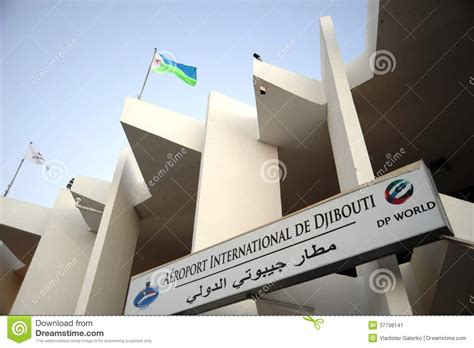 Joint City Z international airport in the city of djibouti editorial