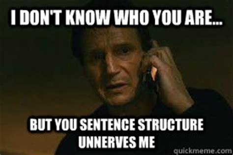 Meme Sentences - if you talk text bring your kids or eat crunchy food