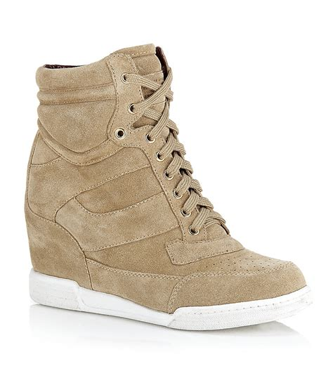 marc sneaker marc by marc standard wedge sneaker in beige lyst