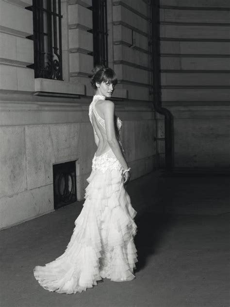 sexy deep  cut  wedding dress cymbeline spring