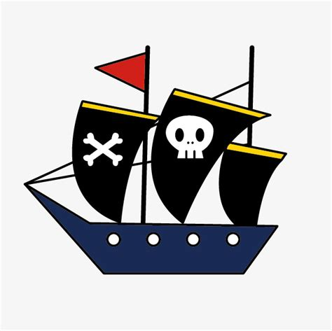 barco pirata dibujo cartoon azul barco pirata dibujos animados de barco