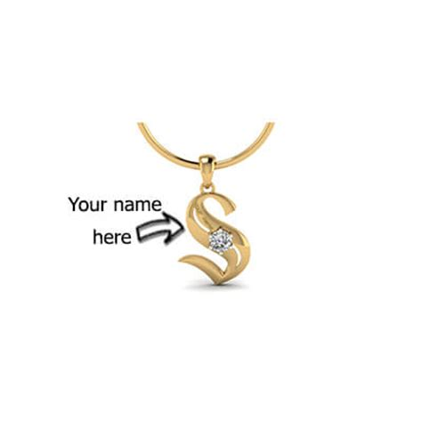 with name s initial pendant with name augrav personalized
