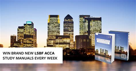 Business School Acca Mba by Lsbf Launches Brand New Acca Study Manuals