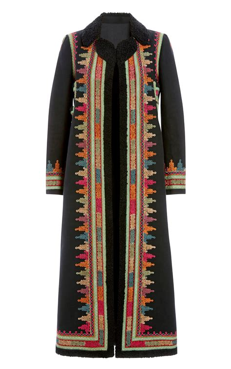 coats embroidery design viewer valentino cotton canvas long coat with ticket pocket and