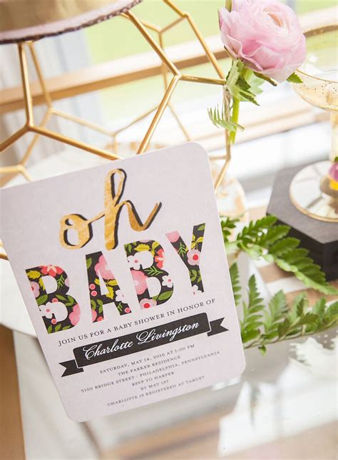 Floral Themed Baby Shower by Kara S Ideas Geometric Floral Baby Shower Kara S
