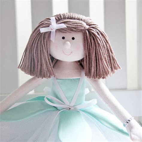 Handmade Rag Doll - handmade personalised flower rag doll by berry