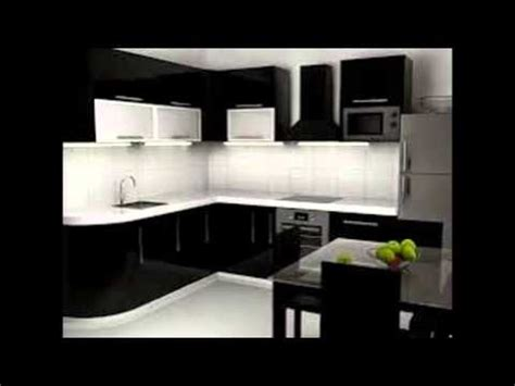 Kitchen Backsplash Ideas With Black Granite Countertops Black And White Kitchen Cabinets Youtube