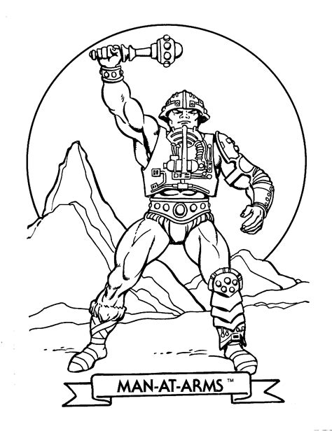 free he man and pokemon coloring pages