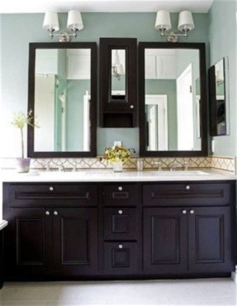 neutral blue paint espresso cabinets light counters but what floor color light in bath