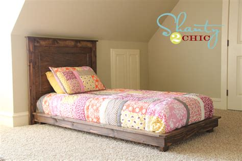 build a bed headboard diy pottery barn inspired fillman twin headboard shanty
