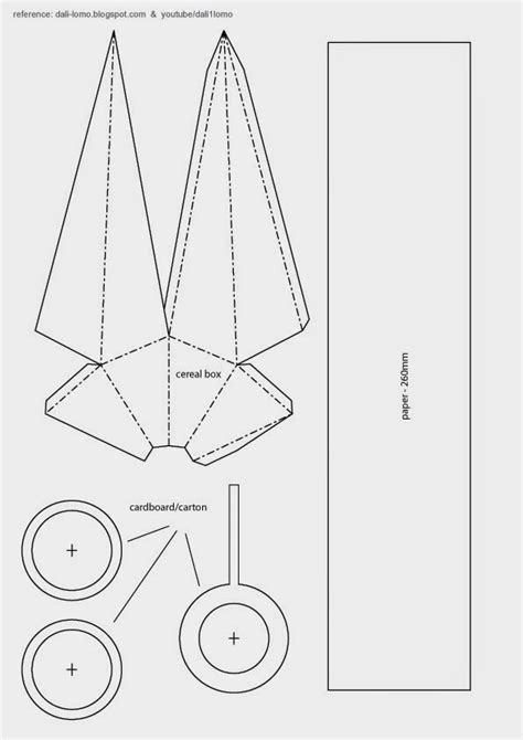 How To Make A Paper Kunai - dali lomo kunai diy style cereal box free