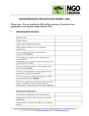template for ngo ngo registration form templates fillable printable