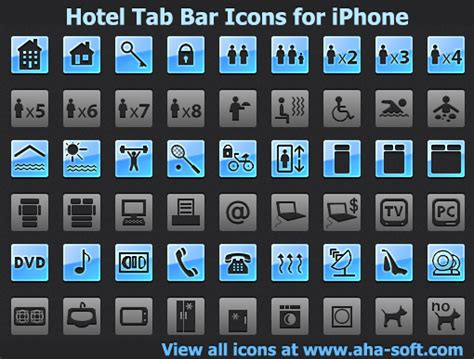 iphone top bar icons hotel tab bar icons for iphone 2013 2 full screenshot