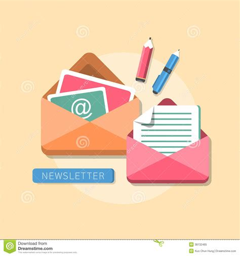 flat design is in flat design concept of newsletter royalty free stock photo