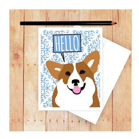 puppy cards corgi card birthday card card corgi corgi