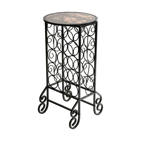 Free Standing Wine Glass Rack by Sei Glass Top Wine Table Free Standing Wine