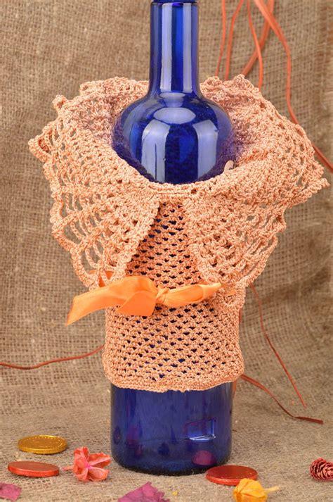 crochet decoracion madeheart gt vestido para botella tejido a ganchillo