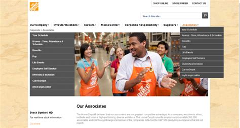 Home Depot Associate Work Schedule by Home Depot Employee Login Guide Today S Assistant