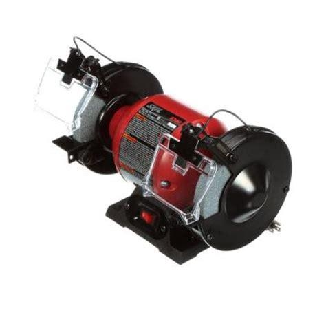 skil 3380 bench grinder skil 2 1 amp corded 6 in bench grinder with light 3380 01 the home depot
