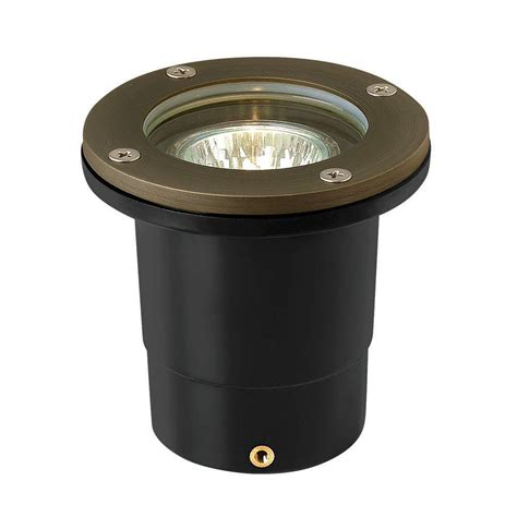 Outdoor Ground Lights Hinkley Lighting Low Voltage 20 Watt Matte Bronze Hardy Island In Ground Outdoor Well Light