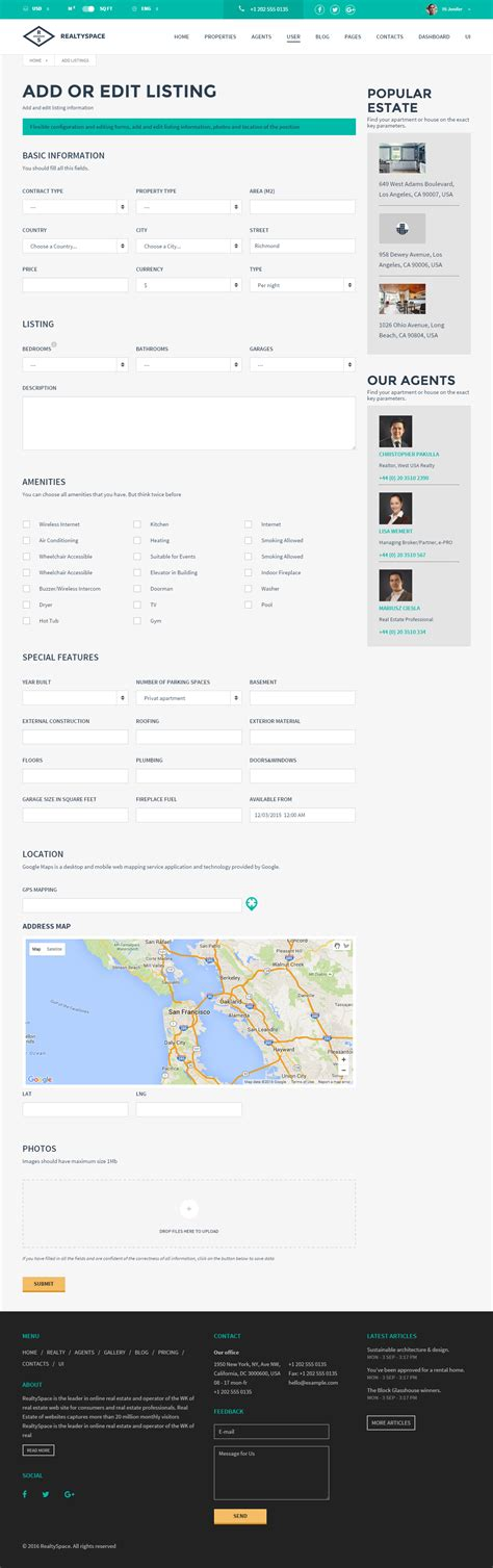 realtyspace v2 1 2 real estate html5 template