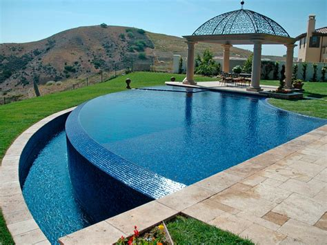 infinity pool backyard on the edge stunning infinity pools outdoor spaces