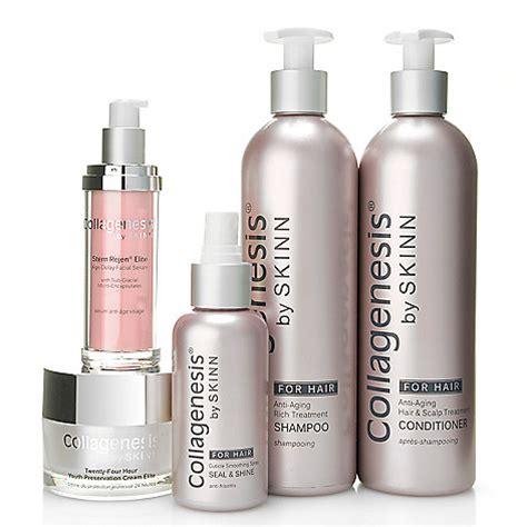skinn cosmetics collagenesis age reset serum 1 7 oz evine set includes