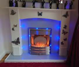 Led Lights For Fireplace by Fireplace Surround Electric Built In Led Lights 163