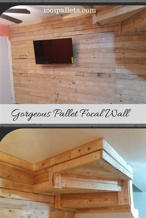 17 helpful tips before painting wooden pallets pallet ideas 1001 pallets need to and pallets pallet focal wall adds pizazz behind tv 1001 pallets
