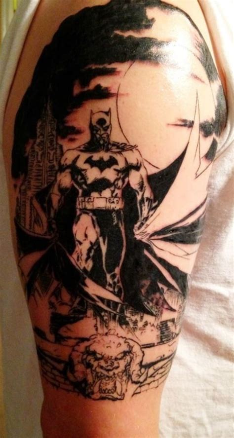 batman tattoo pinterest black grey batman tattoo on arm tattoos pinterest