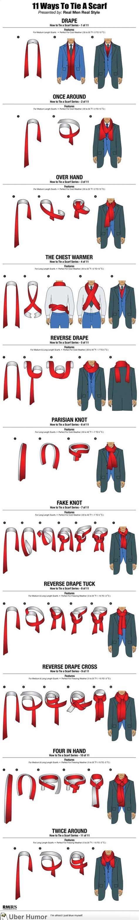 11 ways a guy can tie his scarf the huffington post 11 ways a guy can tie his scarf funny pictures quotes