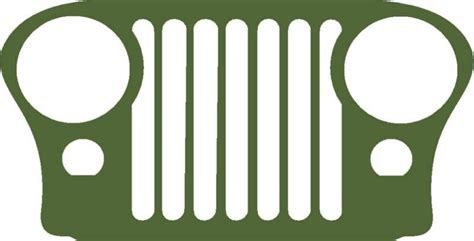 jeep cj grill logo m38 m38a1 cja2 cj3 cj5 cj7 cj jeep grill decal sticker on