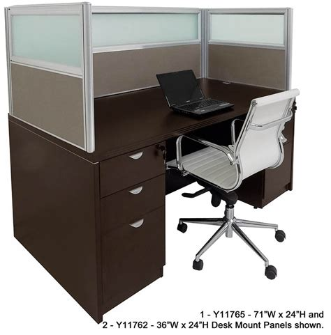 Office Desk Privacy Panel Office Desk Privacy Panel Office In A Box Desk With Privacy Screen And Bookcase Wayfair 24