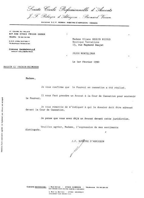 Modèle De Lettre à Un Avocat De La Corruption Au Crime D Etat Nicoud Eliane Et Ribeyre D Abrigeon J F Mon Avocat En 1990