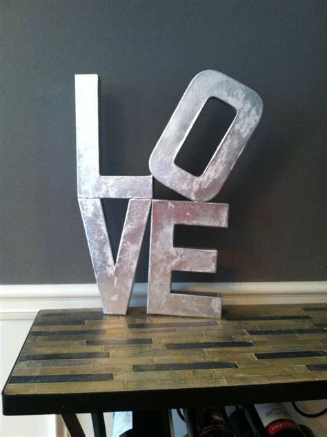 spray paint papier looks like metal papier mache letters metallic spray