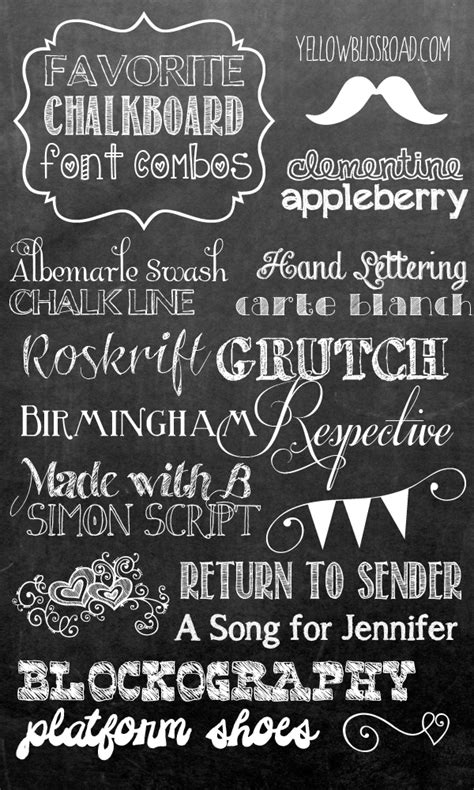 printable typography fonts favorite free chalkboard font combos chalkboard fonts