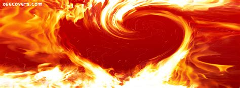 fire heart fb cover photo xee fb covers