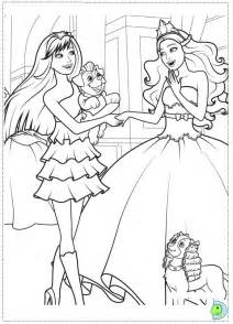 Barbie  The Princess And Popstar Coloring Page DinoKidsorg sketch template