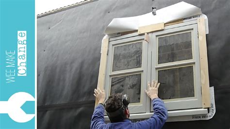 how to install house windows from old to new how to install an old wooden house window tiny house project youtube