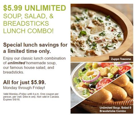 olive garden 5 99 unlimited soup salad and breadsticks