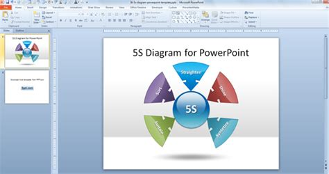 5s powerpoint template 5s diagram